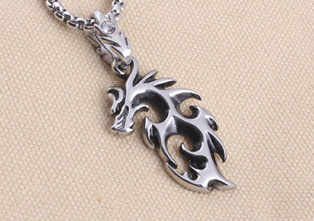 Flame Dragon Pendant Necklace 1
