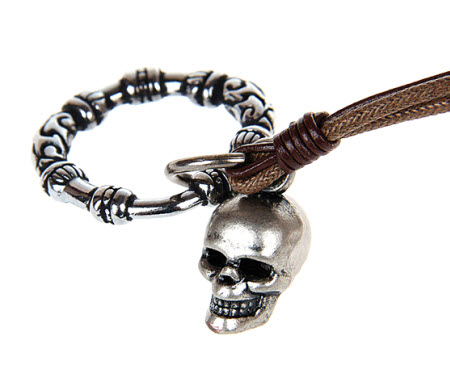 Skull Circle Rope Necklace 3