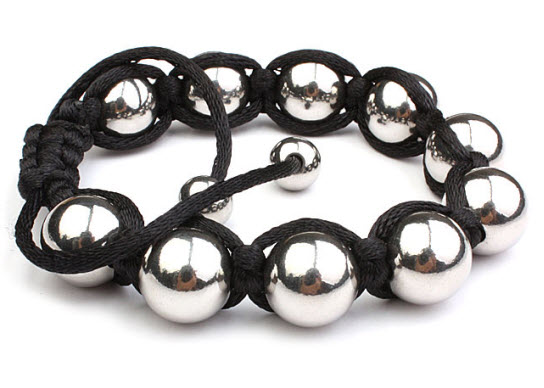 Stainless Steel Beads Men Bracelet