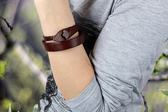 Zen Leather Cuff Bracelet 3