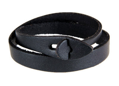 Zen Leather Cuff Bracelet Black 1