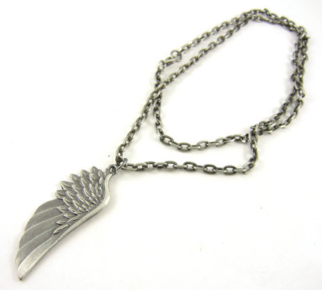 angel wing pendant alloy necklace 2