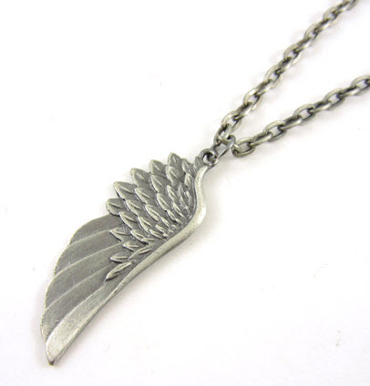 angel wing pendant alloy necklace