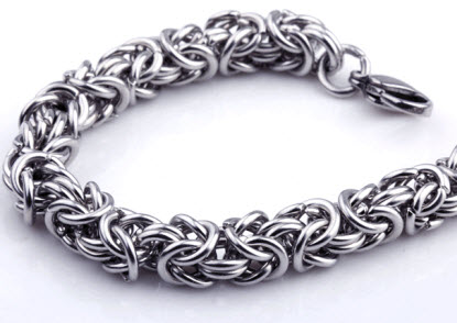 elegant stainless steel men bracelet 2
