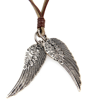 twin wings rope necklace 2