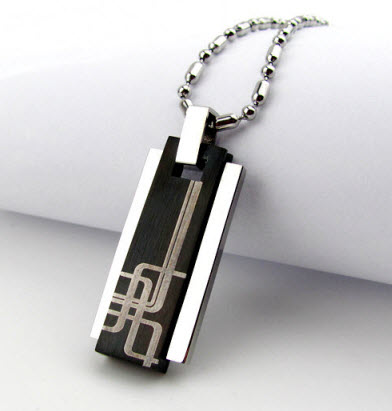 Stylish geometry rectangle men pendant unique mens jewelry by mens stylish geometry rectangle men pendant mozeypictures Gallery