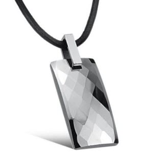Tungsten pendant unique mens jewelry by mens icon mens neckalces unique silver tungsten sparkling pendant necklace aloadofball Image collections
