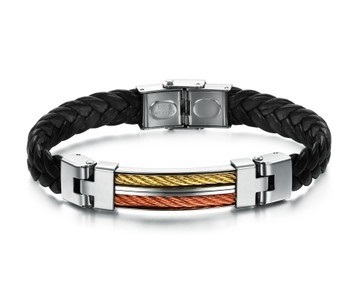 Stylish Men Braided Bracelet Unique Mens Jewelry By Mens Icon
