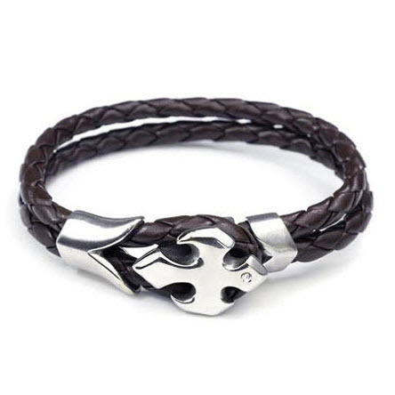 Unique Cross Men Leather Bracelet Unique Mens Jewelry By Mens Icon